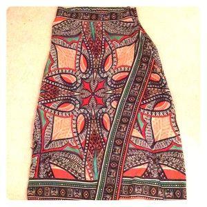 Gorgeous Silk Anthropologie midi/maxi skirt